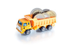 Dump Truck With Money Stock Images
