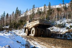 Dump truck with ore Stock Photography