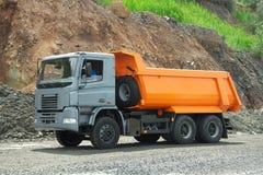 Dump truck. Poltava Region, Ukraine - June 26, 2010: Dump truck driving along the iron ore opencast stock photos