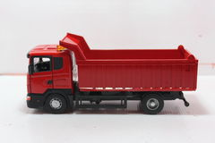 Dump truck red Royalty Free Stock Image