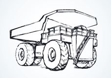 dump truck Retrait de vecteur Images stock