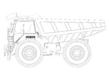 Dump truck sketch Royalty Free Stock Image