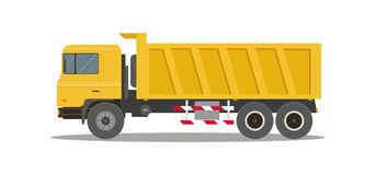 Dump truck tipper on white background. Construction specialized transport and lorry. Vector illustration Royalty Free Stock Photo