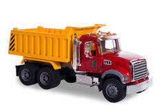 Dump truck toy. Isolated on white Stock Image