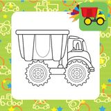 Dump truck toy.Coloring page Stock Photos