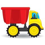 Dump truck toy. Vector illustration Stock Photography