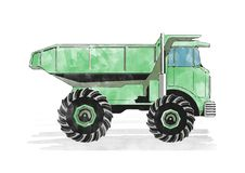Green dump truck Royalty Free Stock Photo