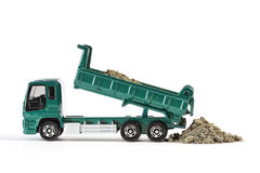 Dump Truck Unloading Soil Stock Photography