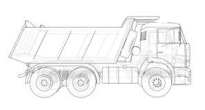 dump truck Vecteur Images stock