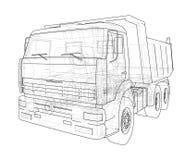 dump truck Vecteur Photographie stock