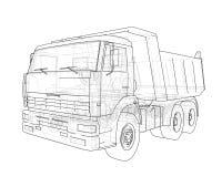 dump truck Vecteur Photographie stock libre de droits