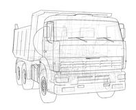 dump truck Vector Royalty-vrije Stock Foto's