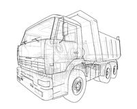 dump truck Vector Royalty-vrije Stock Foto
