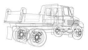 dump truck Vector Imagen de archivo