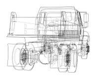 dump truck Vector Fotografía de archivo
