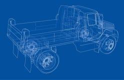 dump truck Vector Imagen de archivo libre de regalías