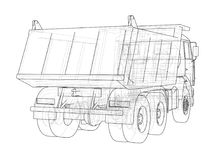 dump truck Vettore Fotografie Stock