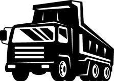 Dump truck viewed from front view Royalty Free Stock Images