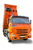 Dump truck. On white background Stock Photo