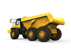 Dump Truck. On white background. 3D render Stock Photos