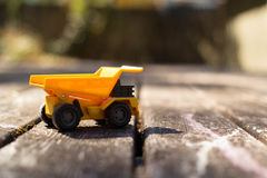 Dump Truck. Yellow dump truck ready to be played with stock photos
