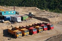 Dump Trucks Royalty Free Stock Photography