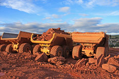 Dump Trucks Royalty Free Stock Photo