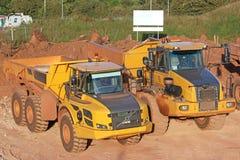 Dump Trucks Stock Photo