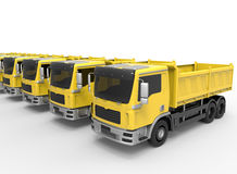 Dump trucks fleet concept Royalty Free Stock Images