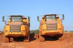 Dump Trucks Stock Image