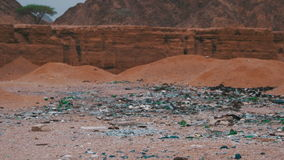 The Dump Waste in the Desert of Egypt stock video footage