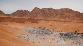 The Dump Waste in the Desert of Egypt stock footage