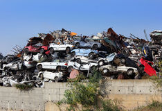 Dump of wrecked cars Royalty Free Stock Image