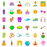 Dumpbell icons set, cartoon style. Dumpbell icons set. Cartoon style of 36 dumpbell vector icons for web isolated on white background Stock Image