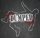 Dumped - Chalk Outline of Ex-Worker or Ex-Lover Break-Up Royalty Free Stock Photos