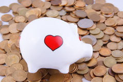 Dumped piggy bank Stock Images