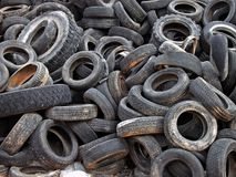 Dumped Tires Royalty Free Stock Photography