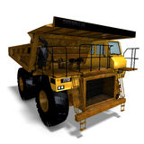 Dumper. Rendering of a heavy dumper with Clipping Path and shadow over white Royalty Free Stock Images
