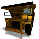Dumper. Rendering of a heavy dumper with Clipping Path and shadow over white Royalty Free Stock Photo