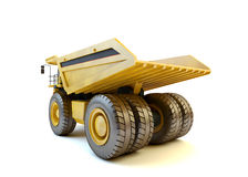 Dumper industrial truck isolated. At the white background stock photography