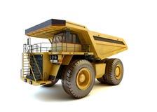 Dumper przemysłowa ciężarówka odizolowywająca zdjęcie royalty free