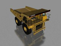 DUMPER TRUCK. 3D MODEL Stock Photo