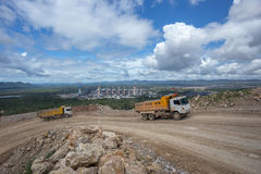 Dumper truck carrying rocks in a quarry Royalty Free Stock Photography
