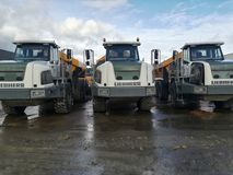 Dumper truck. For construction and mining, transport, transportarion Stock Images