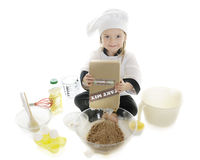 Dumping Cake Mix Stock Images