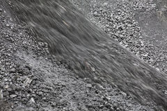 Dumping of coal Royalty Free Stock Photo