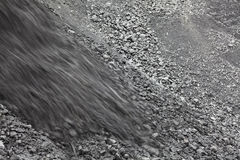 Dumping of coal Stock Images