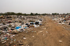 Dumping des déchets image libre de droits