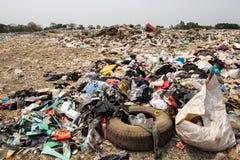 Dumping of garbage. Environmental pollution royalty free stock image