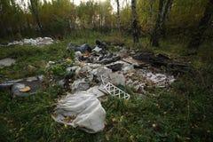 Dumping illégal Photos stock